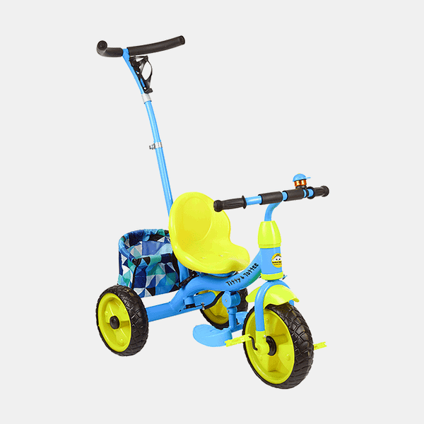 Kids Tricycle - Smart Safe - Blue Yellow - Side
