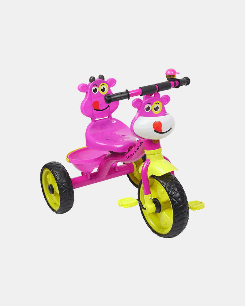 Happy Rider Kids Tricycle - Pink - Side